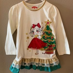 Girls Christmas Long Sleeve T-Shirt